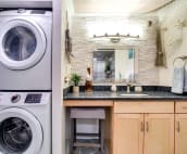Washer and dryer in main bathroom