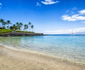 Another wonderful day at the Mauna Lani private beach club.