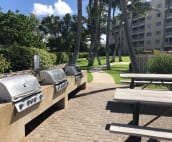 Beachfront gas grills with picnic area
