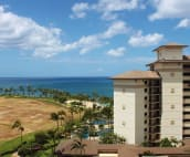 View of the ocean and pools from the lanai