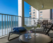 Enjoy refreshing icy cold drinks overlooking beautiful Gulf waters.