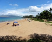 Sandy-bottom, warm-water, Kamaole Beach Park II, 200 steps from our Akahi condo!!