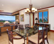 Dining room with ocean views - sample villa