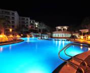Large pool at night
