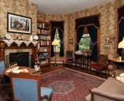 The Library Parlor with Fireplace
