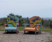 Get your photo made in the big chairs