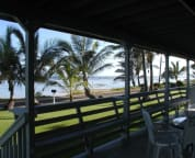 """View from the Lanai. A great place to relax and watch for the """"green flash""""."""