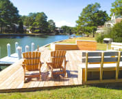 2   Private Boat Dock and Outdoor living area Great Crabbing   Spinnaker VR's  Private Boat Dock and Outdoor living area- Great Crabbing