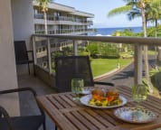 The wider lanai is a great place to relax or have meals.
