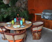 BBQ and poolside seating
