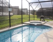 Screened in pool/spa area