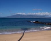 Beach view facing Molokai, amazing snorkeling out here!