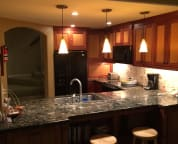 Custom kitchen, gorgeous cabinets made by us in our North Bend, Wa. cabinet shop