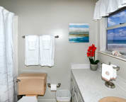 master bathroom with ocean view