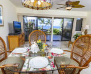 Dining area with awesome view out to the ocean. Make this your home on Maui.