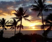 Wow! Another spectacular, awesome sunset from the lanai. End of the day at G105.