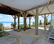 3rd oceanfront deck under the house protected from the sun