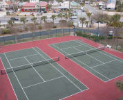 Tennis courts, shuffle board, basketball hoop, sand volleyball and other activities