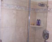 Huge custom shower in the master bath