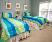 Guest Room has twin beds