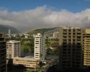 Lanai view of Alawai canal and Ala Wai golf course course