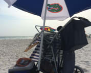 Beach cart to carry your beach stuff.  We pamper our guest