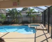 Backyard pool and hot-tub