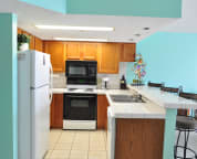 Fully equipped kitchen with full size appliances Cabana Club Unit 305
