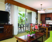 Living Room and kitchenette.