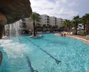 Waterfall in large pool