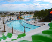 View of lazy river from high slide - no extra charge