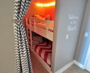 Bunk Room with Lantern Lights