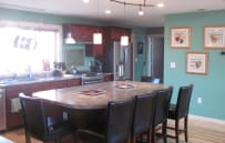 This is a view of the kitchen looking back towards the mudroom