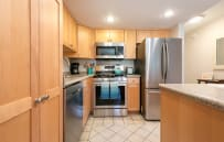 Brand new stainless appliances, cooking gear and gadgets.