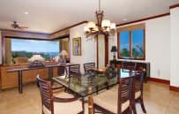 Dining room with ocean views - sample villa