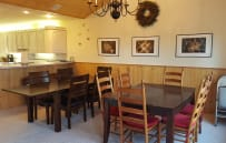 Our dining room with two tables.