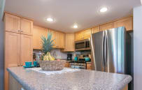 Make island fruit smoothies in the fully outfitted kitchen.