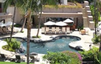 View of family pool from villa