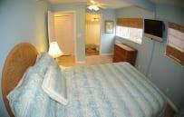 Lower queen bedroom with it's own bathroom