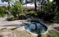 Back of property hot tub