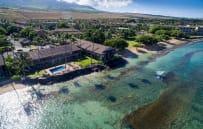 Aerial view of Hale Kai condominiums
