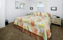 2nd bedroom with comfortable queen size bed and flat screen TV