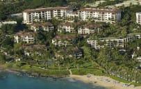 Aerial view of Wailea Beach Villas with direct access to Wailea Beach.