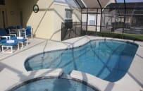 Screened in pool/spa lanai area