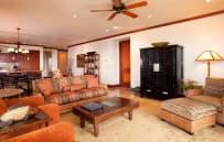 Spacious living area - sample villa