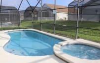 Screened in pool/spa area