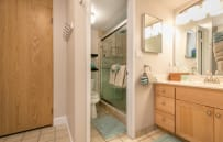 Vanity and sink separate from shower and lavatory