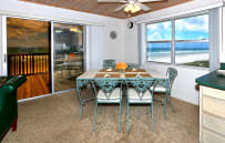 dining room with extensive ocean views