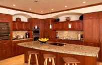 Fully equipped luxury kitchen - sample villa