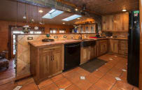 This old world style kitchen is fully equipped with all you need to prepare a full meal!